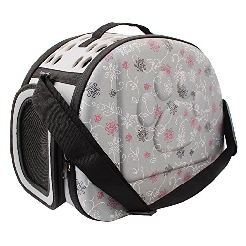 PUAO Haustier-Reise-Tragetasche, bequem, tragbar, faltbar, für Haustiere, von Airline genehmigt, weiche Tasche für Hunde, Katzen und andere Haustiere