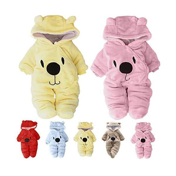 Ropa bebé Invierno Mameluco 3-12 Meses,Mameluco Abrigo de Niño Niña Otoño/Invierno Animal pequeño Estilo Lindo bebé… 3