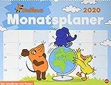 Die Maus Monatsplaner. Wandkalender 2020. Monatskalendarium. Spiralbindung. Format 44 x 34 cm