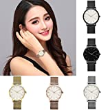 Men's Watches, SHOBDW Fashion Women Crystal Stainless Steel Analog Quartz Wrist Watch Bracelet