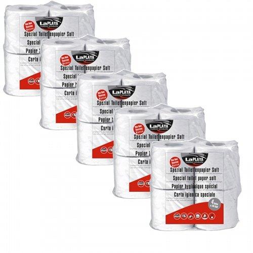 Preisvergleich Produktbild CAGO Camping Toilettenpapier LaPlaya 5 x 4er Pack WC Papier selbstauflösend für Reisemobil Wohnwagen Boot