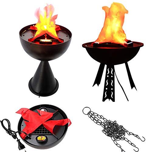 r Requisiten Fake Brazier Halloween Dekorationen Requisiten Elektronische Simulation Feuerbrennen Flamme Kerst LED-Licht Siehe Abbildung ()