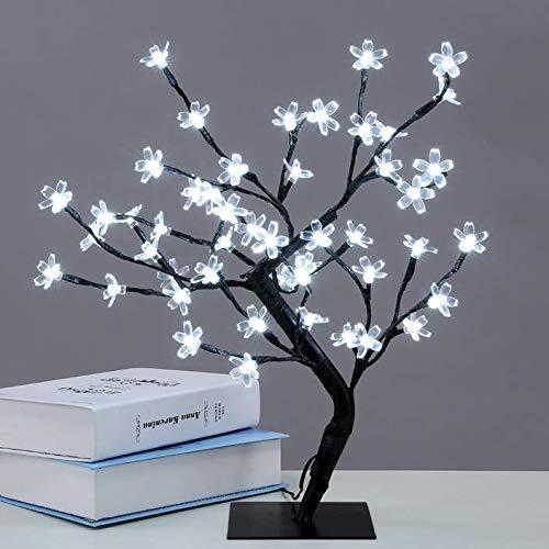 Árbol luminoso LED, 48 LED, lámpara flores cerezo