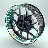 OneWheel Felgenaufkleber Motorex für Motorrad | 17 Zoll | Komplett Set für Vorder- und Hinterreifen | Rim Sticker (Design 4)