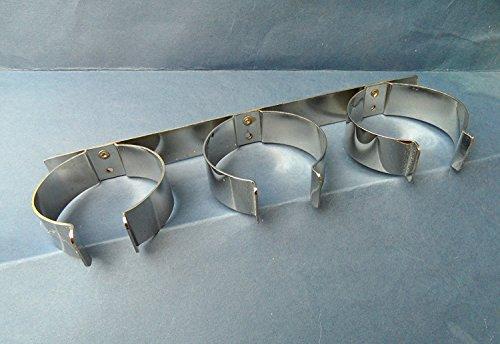 Preisvergleich Produktbild 1–2 X,  für 3 Weinflaschen Halter. Metall. Kupfer versilbert. Wohnmobil / Wohnwagen / Caravan / Wohnmobil / statisch / RV. 255 mm lang
