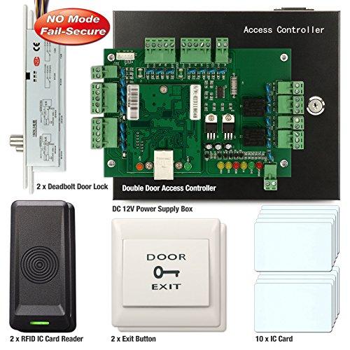 Soter) ® 2tür Zugang Controller Board RFID-Karte Netzwerk Office Security System + Elektrischer Riegel Timer Tür Lock Kein Modus (Card Access Door Lock)