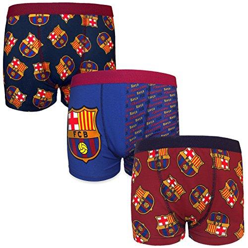 f31a2d091d12f FC Barcelona - Pack de 3 calzoncillos oficiales de estilo bóxer - Para niños  - Con
