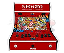 Arcade Maschine - Neo Geo (rot) - 2 Spieler Arcade Bartop Maschine - 815 SPIELE IN 1