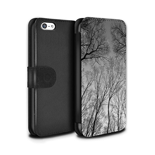 Stuff4 Coque/Etui/Housse Cuir PU Case/Cover pour Apple iPhone 5C / Pack 7pcs Design / Hiver Saison Collection Ciel Gris