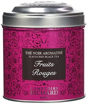 Comptoirs Richard Thé Noir Fruits Rouges Boîte Métal Vrac 100 g