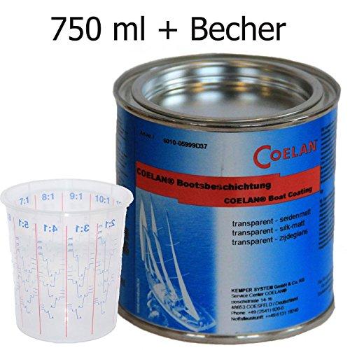 Coelan Bootsbeschichtung transparent 750 ml seidenmatt
