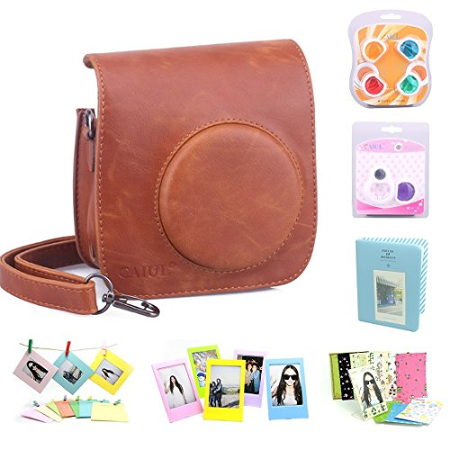 caiul-7-in-1-fujifilm-instax-mini-25-camera-accessories-bundle-brown-instax-mini-25-case-mini-album-