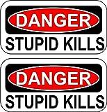 Selbstklebend Sticker MacBook Laptop Auto Kopfhörer Stupid Kills dumm tötet witziges