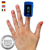 MedX5 OLED Display Ossimetro professionale, Pulsossimetro da...