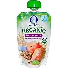 2º Los alimentos, el bebé orgánico alimentos, frutas y cereales, harina de avena pera melocotón - Gerber
