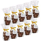 10er SET Hase mit Korb 22 g Edelvollmilch-Schokolade Osterhase Ostern
