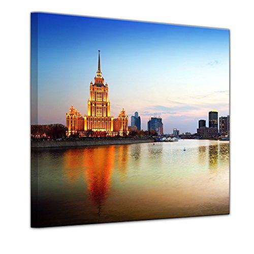 """Leinwandbild """"Moskau - Russland"""" - 80 x 80 cm - eigene Herstellung von Bilderdepot24, faire Produktion in Deutschland"""