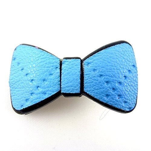 rougecaramel - Accessoires cheveux - Mini pince cheveux fantaisie forme noeud - bleu