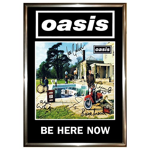 Oasis Be Here Now A4 Album Poster, Framed, Signed