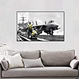 Geiqianjiumai Avion Affiches et Impressions Salon Mural Art Mural décoration Toile Murale Chambre sans Cadre Peinture 30x37 cm