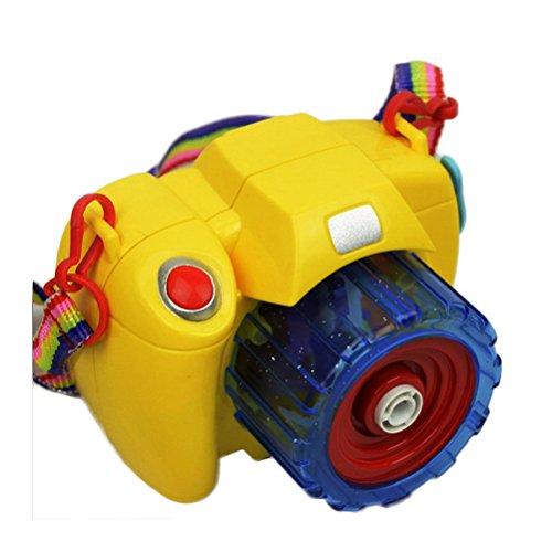STOBOK Seifenblasen Maschine Kamera Form mit Musik und Licht für Kinder (Zufällige ()
