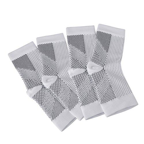 KUNFO 2 Paar Kompression Socken Pro Pack Plantarfasziitis Socken Ultimate Support für die Ihre Müden Heels, ideal Geschenk für Läufer Laufen, und Radfahren, Klettern