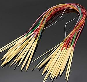 Meshela 18Misure colorato in bambù, per lavoro all' uncinetto ago 2mm a 10mm