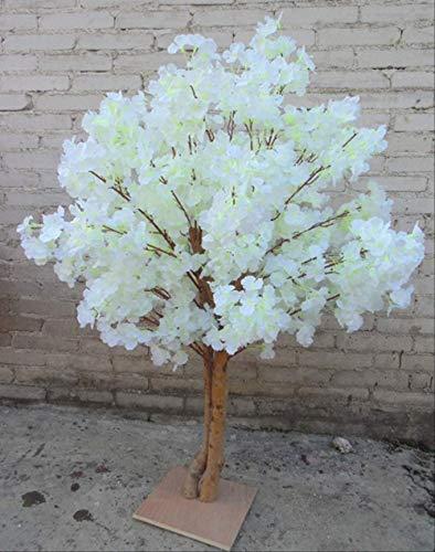 che Kirschblumen Baum Simulation Gefälschte Pfirsich Wishing Bäume für Wohnkultur und Hochzeit Mittelstücke Dekorationenmilchweiß 1 Meter ()