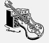 Etiqueta de la pegatina para el parachoques del coche Guitarra eléctrica de alta calidad Música Instrumento musical Rock Vinyl Car Sticker 15.8CM * 16CM 2 piezas