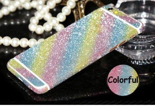 Fashionfort-integrale in vinile, decalcomania, Cover adesiva per iPhone 4, 4s, 5, 5s, 5c, 6, 6 Plus/6s, argento, iPhone 6/6s multicolore