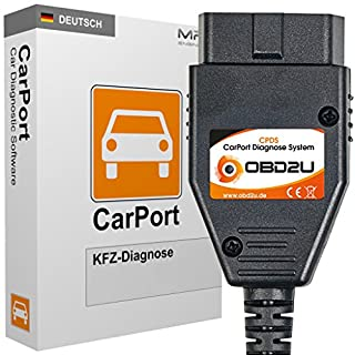 USB OBD KKL Diagnose Interface + Software CarPort PRO