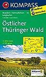 Östlicher Thüringer Wald: Wanderkarte mit Aktiv Guide, Radwegen und Loipen. 1:50000: Wandelkaart 1:50 000 (KOMPASS-Wanderkarten, Band 813) -
