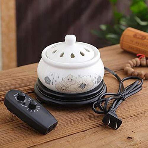Incense Burner Elektronische Keramik Aromatherapie Ofen Timing Temperaturregelung Weihrauch Brenner Adlerholz Ätherisches Öl Elektrische Diffusor Home Porzellan F -