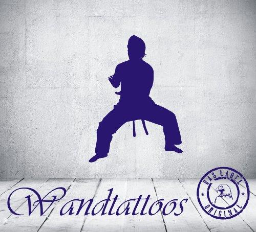 """das-label Wandtattoo Kampfkunst """"art 24"""" in 4 Größen martial art Kampfsport Kinderzimmer Tattoo, Indoor rot/Größe S"""