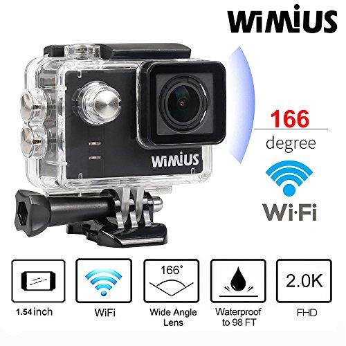 WIMIUS A1 Action Kamera WIFI Full HD Actioncam Ambarella A7LS75 60M Wasserdicht 16MP