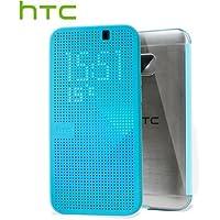 HTC Dot View Ice Premium Hülle Case Cover für HTC One M9 - Türkis