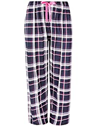 Yours Clothing Women/'s Plus Size Turquoise Check Pyjama Bottoms
