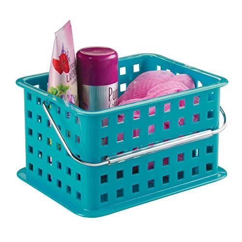 iDesign Basic - Small Basket Aufbewahrungskorb mit Griff, türks, kunststoff