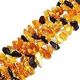 Classico multicolore collana lunga, con ambra del Baltico, senza chiusura 121,9cm.