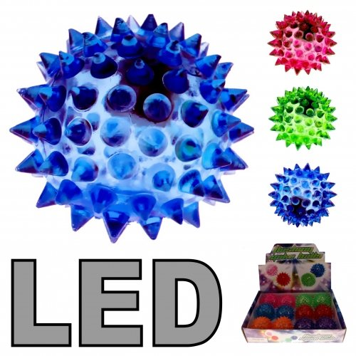 Schnooridoo 4 x LED Leuchtflummi Stachelball Flummi Ball Hüpfball Give Away