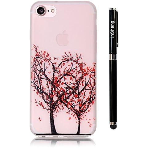 inShang iPhone 7 Plus Custodia 5.5 inch [Trasparente cover iPhone] [luminoso nel buio], comoda Cover (Fatto A Mano Fiore Di Carta Semi)