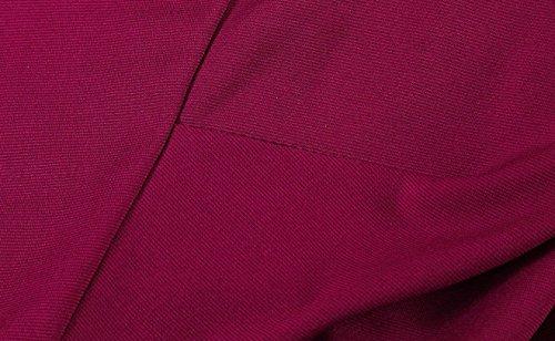 Robe de Soirée épaules Dénudées Femme Vintage Retro Col Bateau Manches Courtes Taille Haute Robe de Cocktail Swing Robe Vin rouge