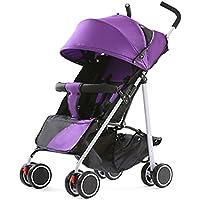 QQB &Carro Plegable Carretilla portátil de bebé portátil Multifuncional portátil Puede Sentarse ...