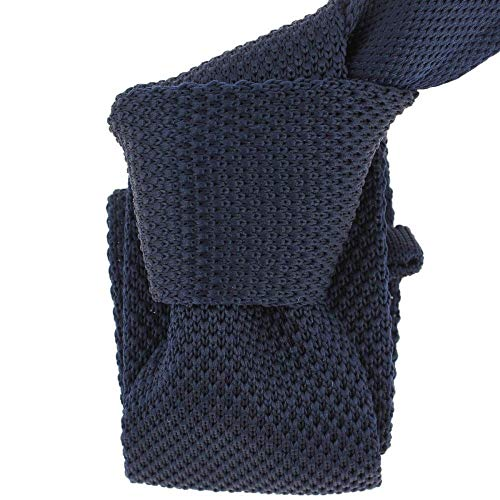Clj Charles Le Jeune - Cravate Tricot. Bleu Marine