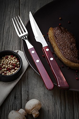 Tramontina 29899/172 Chuletero Steak/Pizza 6 Pc, Blister Art.no. 29899/172 4 Pieces Knives Set, Stainless Steel, Multi Colour