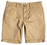 Quiksilver Herren Krandy Chino Shorts, British Khaki, 32, EQYWS03182-CNE0