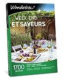 Wonderbox - Coffret cadeau couple - WEEK-END ET SAVEURS - 1700 séjours gourmands en hôtel 3 étoiles, châteaux, manoirs, belles demeures de charme.