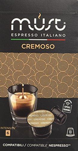 Must Espresso Italiano 100 Capsule Compatibili Nespresso Cremoso - 10 confezioni da 10 capsule