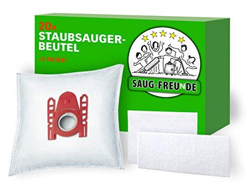 20 Staubsaugerbeutel geeignet für SIEMENS VS06B2410, VS06B112A, VS06B1110 synchropower von SAUG-FREUnDE Made in Germany
