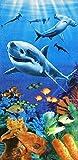 Sharks Colorful Reef Velours brasilianisches Strandtuch 76,2x 152,4cm
